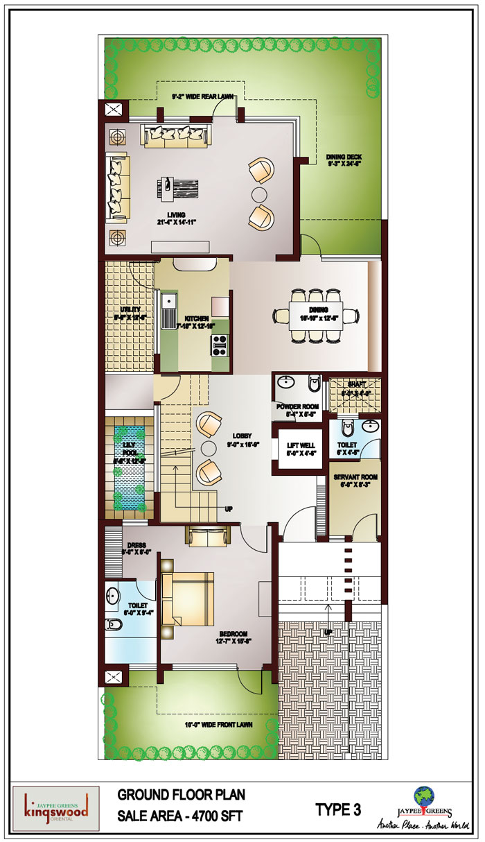 Kingswood oriental noida jaypee greens kingswood Ground floor house plans