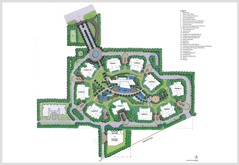 M3m Merlin Site Layout on Floor Layout Design