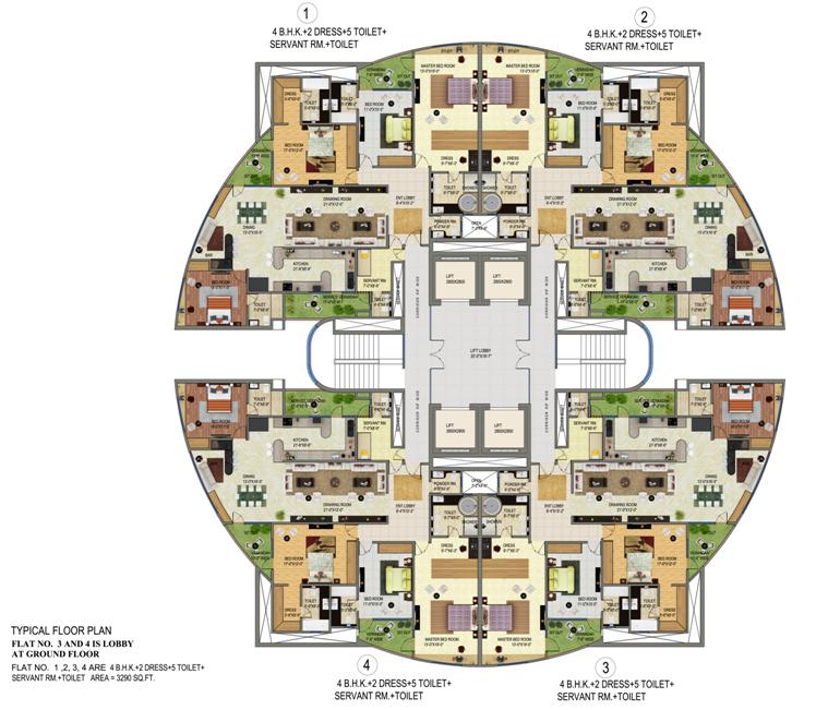 Supertechnoidal Sitemap on Villa Floor Plans
